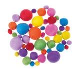 Grand assortiment de boules en feutrine de...