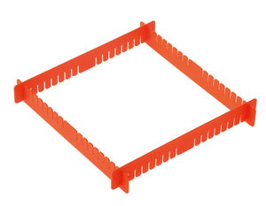 Gießformenhalter, 4-teilig (15,3 x 2 cm)