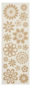 Calcomanías para velas - Flores, color oro
