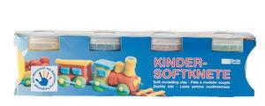 Becks Plastilin-Kinder Softknete je 150 g, 4er-Set