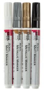 Acryl Matt und Metallic Marker Medium 4er-Set