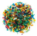 Mosaik Luzy Acryl, 500 g bunt-mix