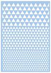 Pochoir Mask Stencil  - triangles, Pl...,