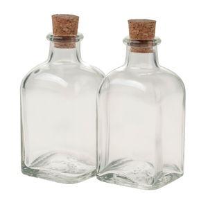Glazen flesjes met kurk (100 ml) 4 stuks
