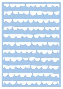 Schablone Mask Stencil Scallop Stripe (DIN A4)