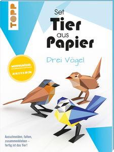 Knutselpakket: Dier van papier - Drie vogels