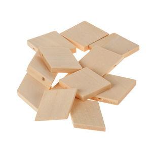 Holzperlen, 12 Stück Rauten (29 x 5 x 20 mm)