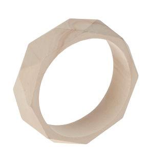 Brazaletes de madera - geométrico, 1 ud.