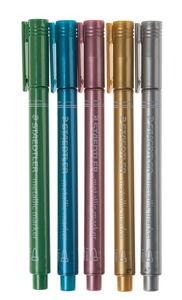 STAEDTLER metallic markers, 5 stuks