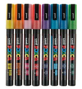 POSCA glitter verfstiften PC-3ML, 8 stuks