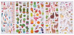 Glitter stickers - Exotic, 5 vel