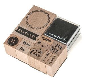 Lote de 11 sellos - Handmade, con 2 tampones