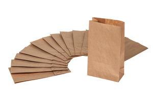 Sacchetti di carta kraft, per alim., 15 pezzi