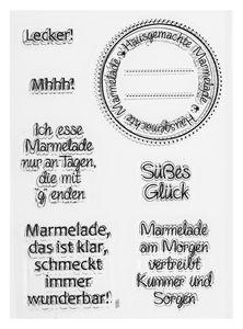 Siliconen stempels met Duitse tekst - Marmelade