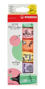 STABILO Boss Mini Pastellove, 6er-Set