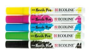 Talens Ecoline Brush Pen Marker, 5er-Set