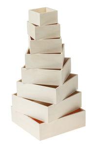 Holz-Kisten, 8er-Set