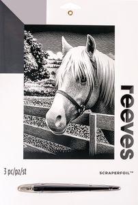 Image à gratter reeves, cheval argenté