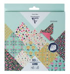Origamipapier Clairefontaine - bloemen, 60 vel