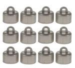 Kroontjes voor kerstbal (20 mm) zilver, 12 stuks