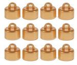 Kroontjes voor kerstbal (20 mm) goud, 12 stuks