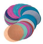 Zijdepapier cirkels (ø 10 cm) kleurrijk, 480 stuks