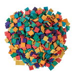 Houten mozaïek (12 x 12 mm) bont, 1000 stuks