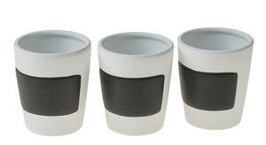 3 pots pour aromates avec surface inscriptible