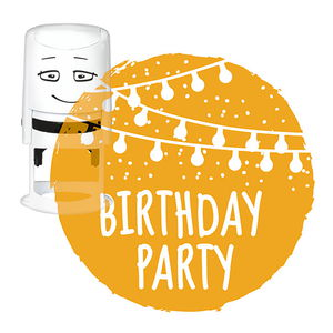 NIO Stempelmotiv, Birthday Party       (40 mm)