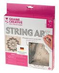Bastelset String Art, Blüte 3-teilig