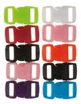 Klikgespen (30 x 15 mm) kleurrijk, 10 stuks
