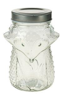 Glas met schroefdop - vos (550 ml)