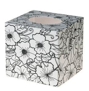 Kosmetiktuchbox Hülle, Doodle Art (13x12x12,5 cm)