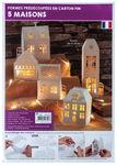 3D-Papierbausatz Häuser, 5 Stück