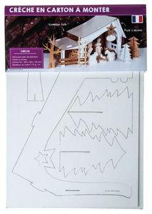 Kartonnen bouwpakket - Kerststal