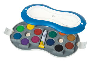 Boîte de pastilles de gouache Pelikan, 12 couleurs
