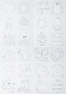 Borduur kaarten (9 x 9 cm) 24 motieven, 48 stuks