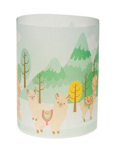 Tischlicht mini, 5 Blatt Lama  (27 x 10 cm)