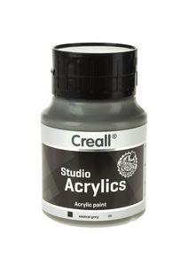 Creall Studio acrylverf (500 ml) grijs