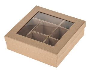 Caja con departamentos Paper-Art (165x165x50mm)