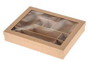 Boîte rectangle Paper Art avec casiers intérieurs