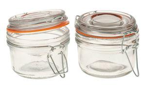 Glas mit Bügelverschluss, 2 Stück (125 ml)