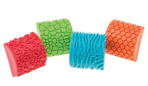 Modelleerstempels - Dierenhuid patronen, 4 stuks