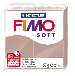 Fimo soft boetseerklei (57 g) taupe