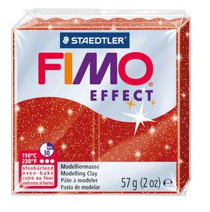 FIMO effect Modelliermasse, 57 g Glitter-rot