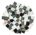 Mosaik Eis opak/irisierend, 200 g schwarz/weiß