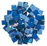 Mosaik Eis opak/irisierend, 200 g blau-mix