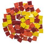 Mosaik Eis opak/irisierend, 200 g gelb/rot-mix