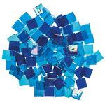 Mosaik Eis transparent/irisierend, 200 g blau-mix