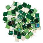 Mosaik Eis transparent/irisierend, 200 g grün-mix